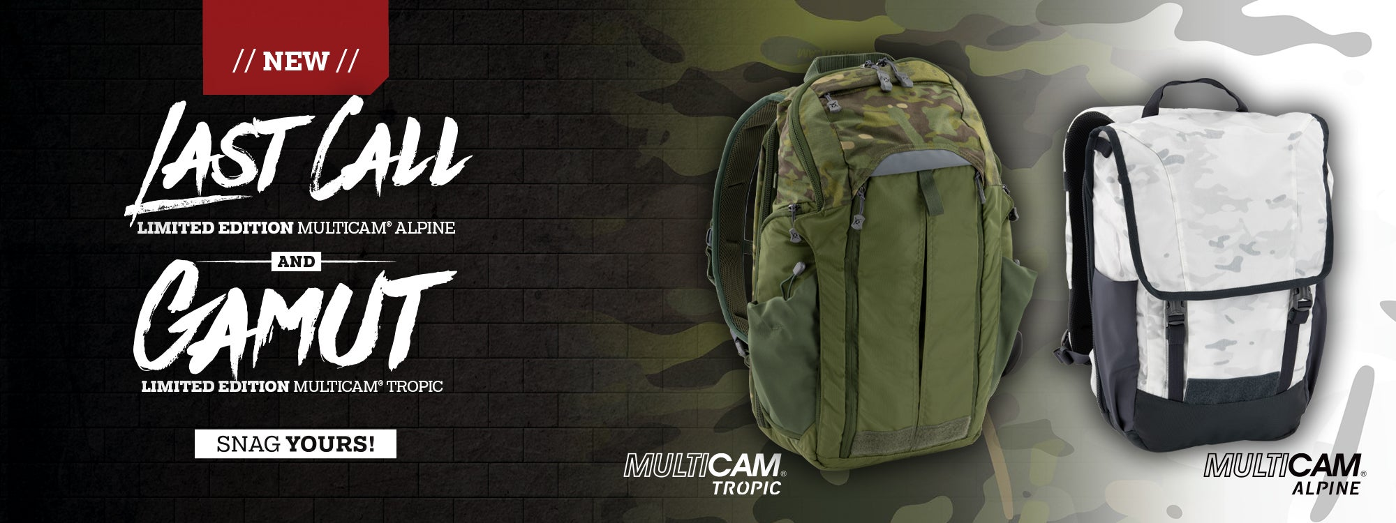 Multicam Bags and Packs