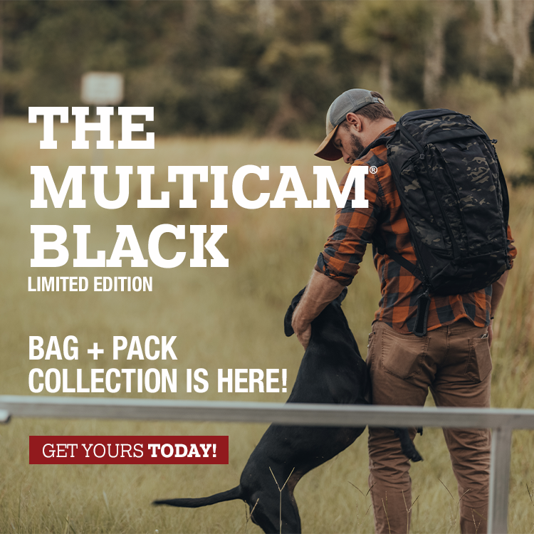 Muticam Black Bags and Packs